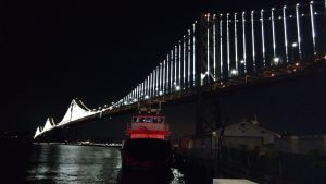 Oakland Bay Bridge at Night