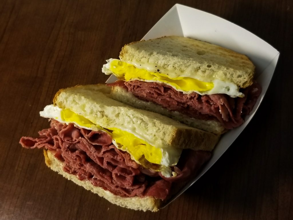 cafe me corned beef egg sandwich