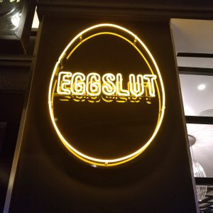 eggslut neon sign