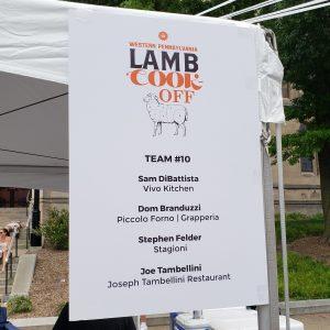 Lambfest Team 10 Sign
