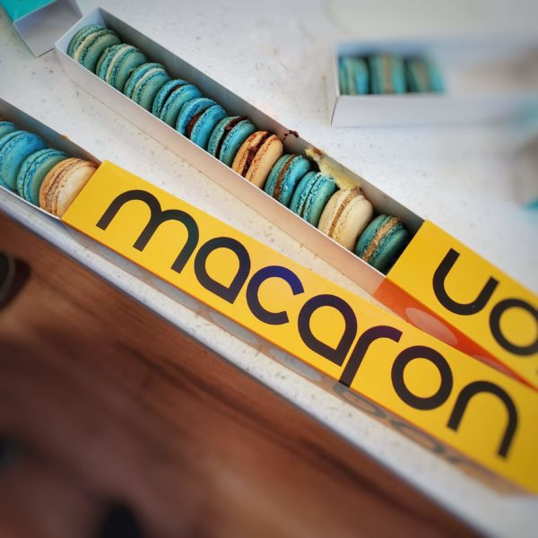 Macaron Bar finished macarons boxed up