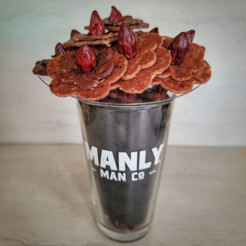 I Received a Beef Jerky Flower Bouquet from Manly Man Co.